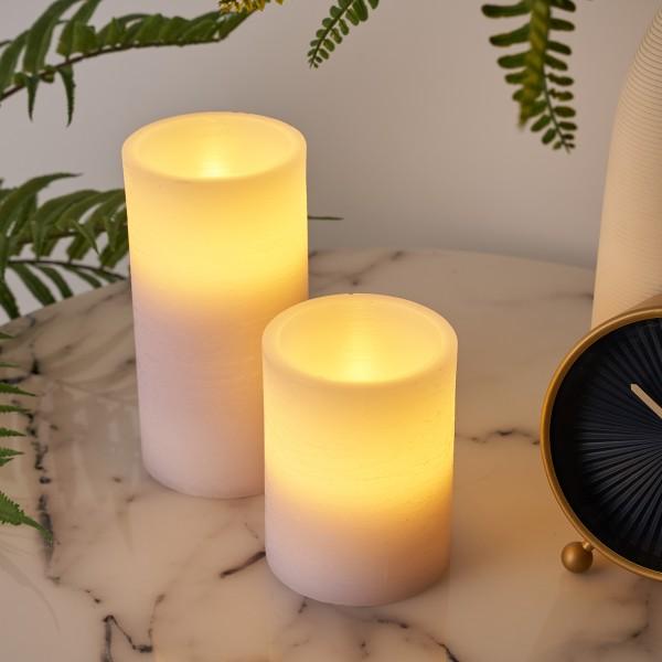 Cosy Lilac Candle Wachskerze 2er Set Timer Batterie Flieder