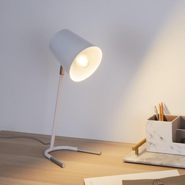 True Ally Schreibtischleuchte max20W E14 Weiß/Silber