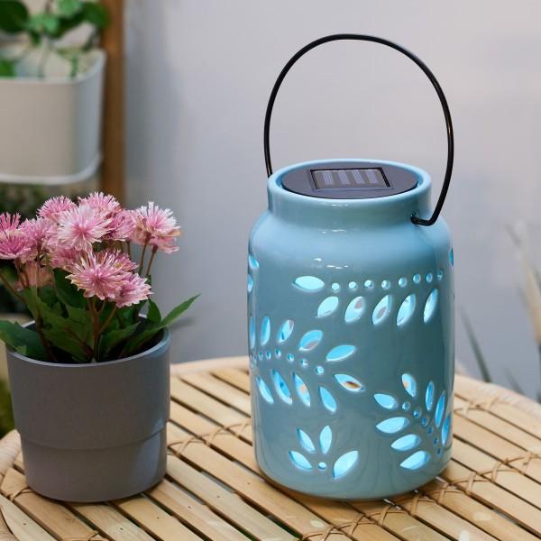 Sunshine Leaf Solar-Laterne Mint