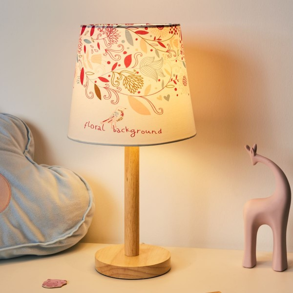 Cute Flower Lamp max20W E27 Weiß/Bunt/ Metall/Stoffschirm