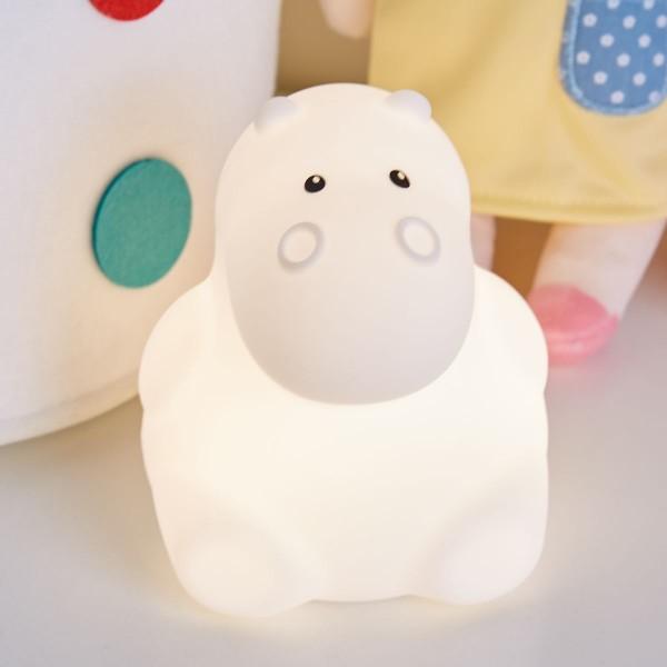 Good Night Hippo Nachtlicht 2,5W USB 5V Weiß/Silikon BPA-Frei