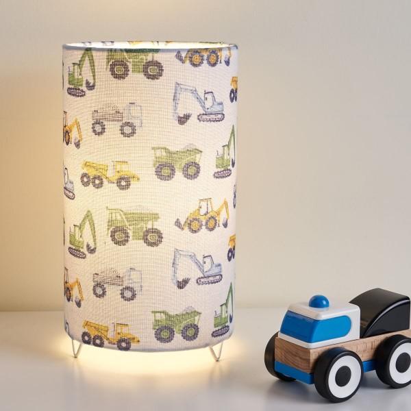 Cute Tractor Lamp Tischleuchte max 20W E14 Weiß/Bunt/ Metall/Stoffschirm