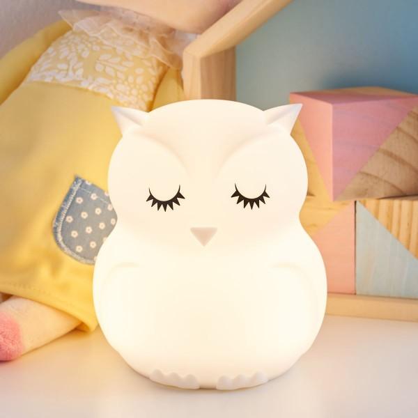 Good Night Owl Nachtlicht 2,5W USB Weiß/Silikon BPA-Frei