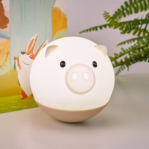 Night Pig Nachtlicht 0,4W USB beige Silikon BPA-frei