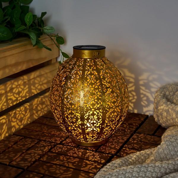 Sunshine Aura Solar-Laterne Gold